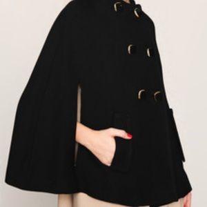 """🖤Kate Spade """"Sophie"""" Black Wool Cape Jacket Coat"""
